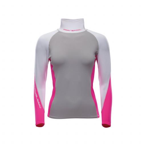Marinepool NTS Pro Rashguard Stretch-Top Longsleeve Damen grau-pink