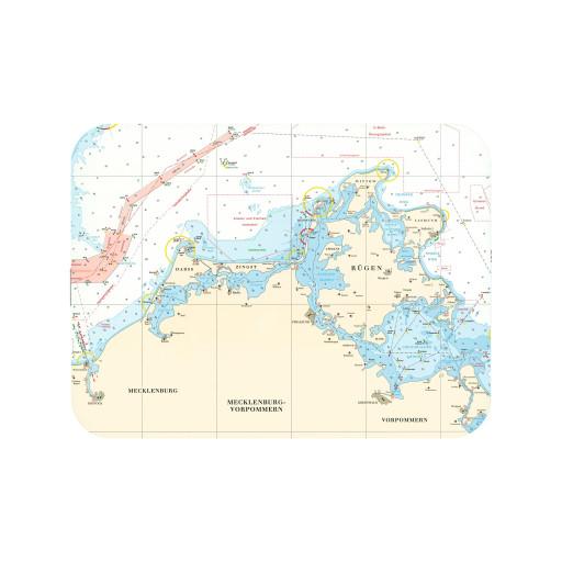 Tischset mit Seekarte - Rügen - Maße 40 x 30cm