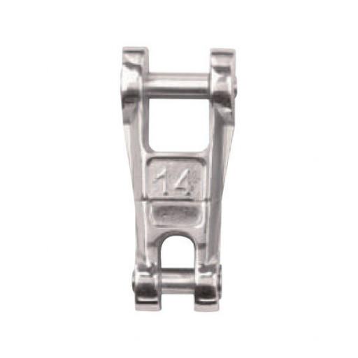 Edelstahl-Anker-Kettenverbinder mit Wirbel - Kette 12mm
