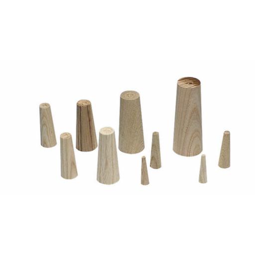 Plastimo Notstopfen-Set aus Holz - Länge 40-80 mm, Breite 4-35 mm