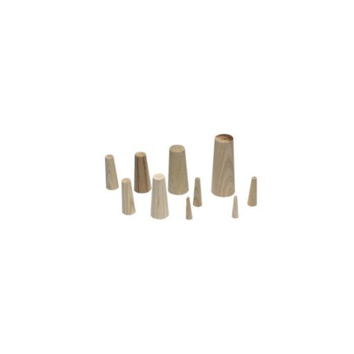 Plastimo Notstopfen 6er-Set aus Holz - Länge 110 mm, Breite 19-49 mm
