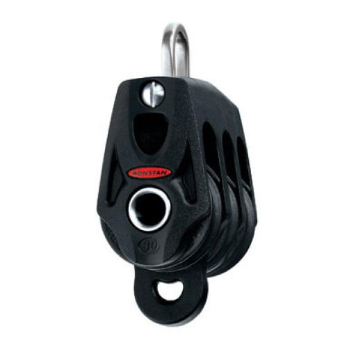Ronstan Orbit Block Serie 30 BB - dreischeibig mit Schäkel und Hundsfott