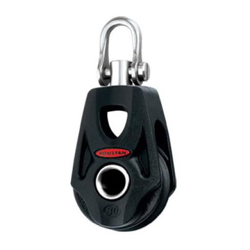 Ronstan Orbit Block Serie 30 BB - einscheibig mit Wirbelschäkel