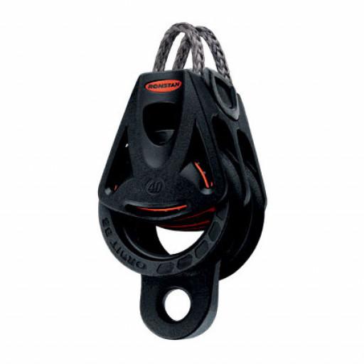 Ronstan Orbit Block Serie 40 BB - zweischeibig mit Looptop und Hundsfott