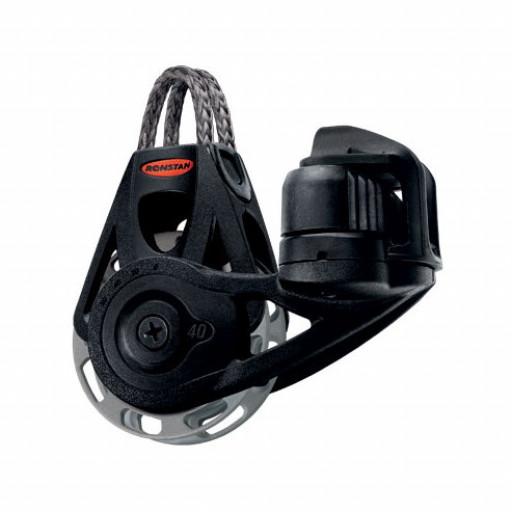 Ronstan Orbit Block Serie 40 RT - einscheibig mit Looptop und Klemme, auto