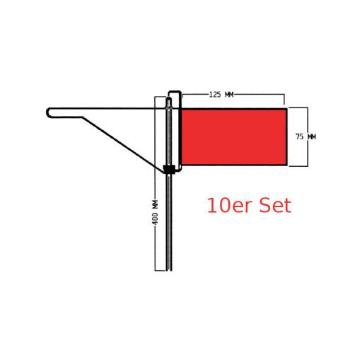 Roter Windfahnen-Verklicker - Regatta - 10er Set