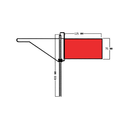 Roter Windfahnen-Verklicker - Regatta