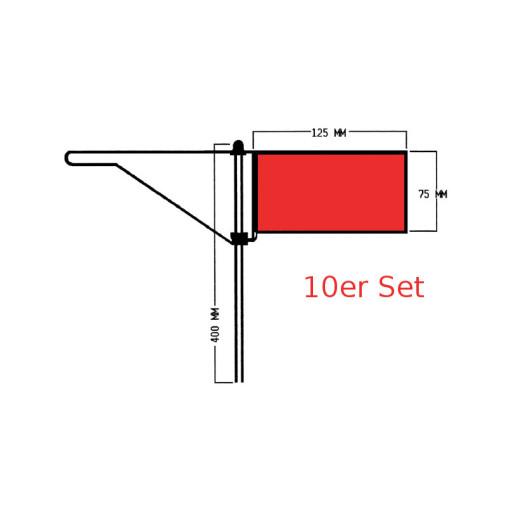Roter Windfahnen-Verklicker - Standard - 10er Set