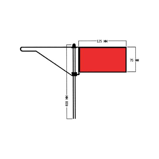 Roter Windfahnen-Verklicker - Standard