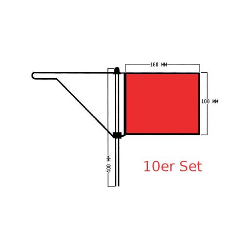 Roter Windfahnen-Verklicker - Groß - 10er Set