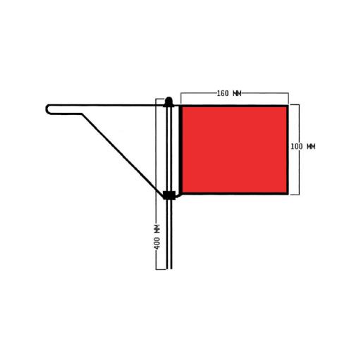 Roter Windfahnen-Verklicker - Groß