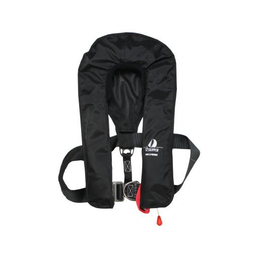 DEAL: 12skipper Premium Automatik-Rettungsweste 300N ISO mit Harness, schwarz