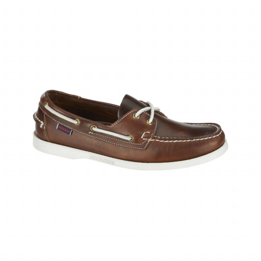 SALE: Sebago Docksides Bootsschuh Damen brown oiled waxy leather