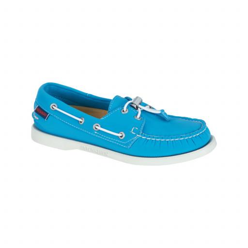 SALE: Sebago Docksides Neoprene Bootsschuh Damen aqua blue