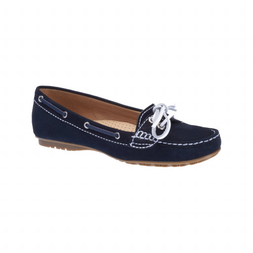 SALE: Sebago Meriden Two-Eye Mokassin Damen navy nubuck