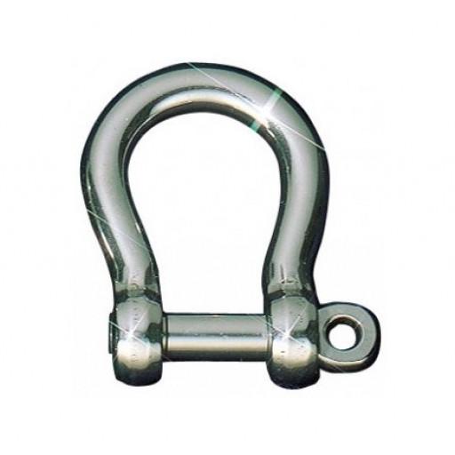 Sprenger Edelstahl-Rundschäkel geschweift - Länge 21mm, Durchmesser 6mm