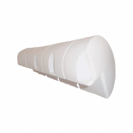 Stegfender Dick, Länge 110cm, Durchmesser 24cm - weiß