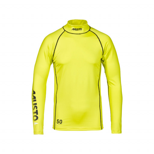 Musto Sunblock Rash Guard Stretch-Top Longsleeve Unisex neon-gelb