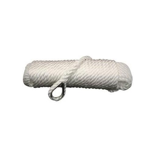 Talamex Ankerleine mit Kausche - weiss, Durchmesser 12mm, Länge 30m