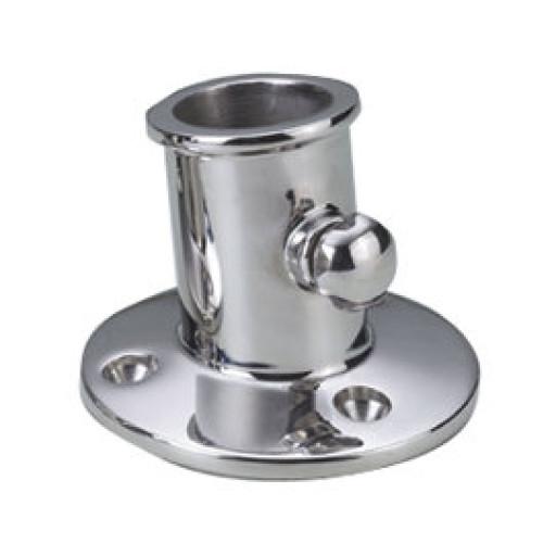 Talamex Edelstahl Flaggenstockhalter mit Feststellschraube - Durchmesser 25mm