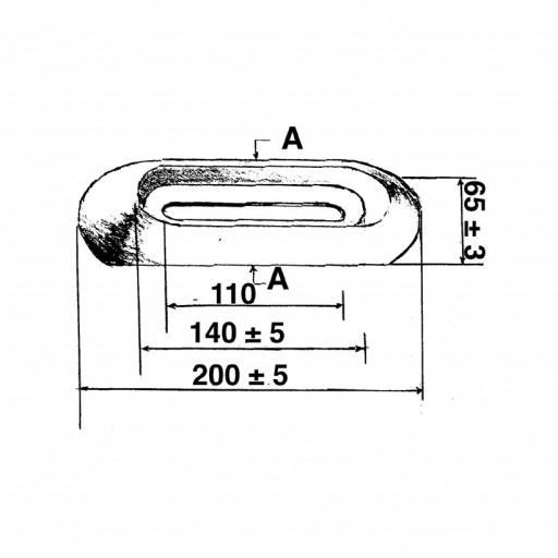 Opferanode Zink aufschraubbar - Gewicht 1,2kg, Länge 200mm