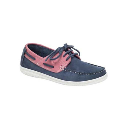 SALE: TBS Yollesf Bootsschuh Damen marineblau-rosa