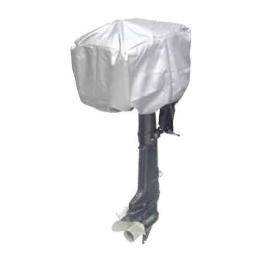 Motorpersenning Top Cover - Motormaße 75x45x75 cm, silbergrau