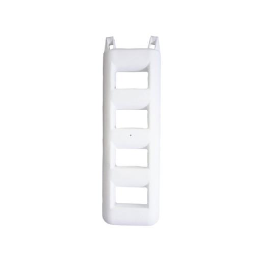 Treppenfender - weiß, 4 Stufen
