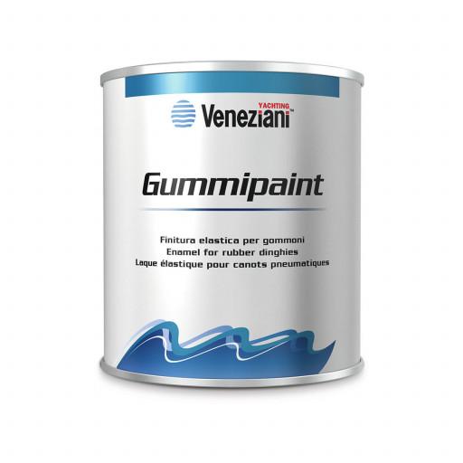 Veneziani Gummipaint Bootslack für Schlauchboote - schwarz 708, 500ml