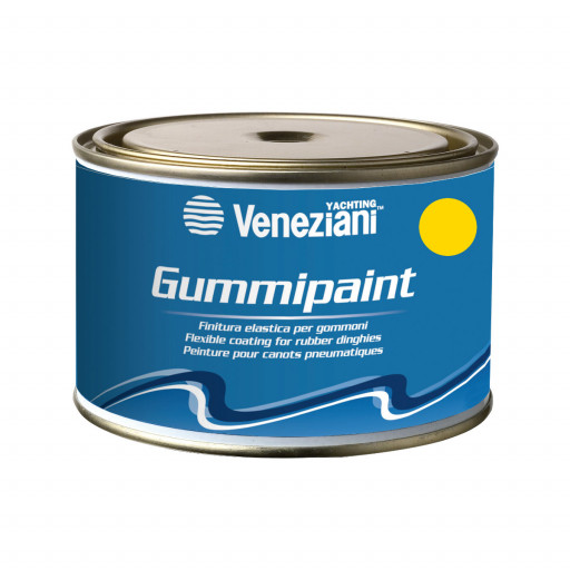 RESTBESTAND: Veneziani Gummipaint Bootslack für Schlauchboote - gelb 246, 375ml