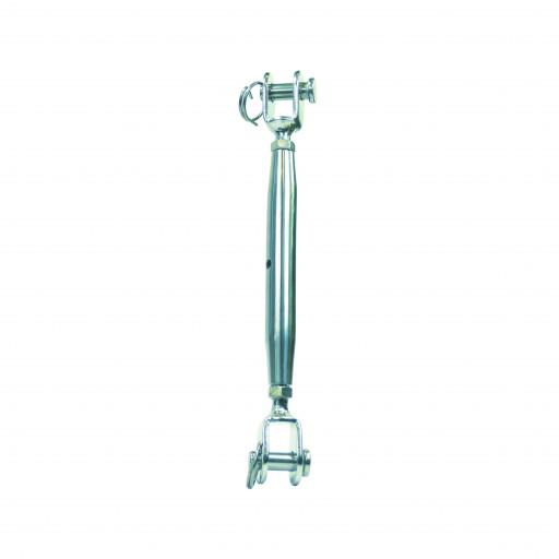 Edelstahl-Wantenspanner Gabel-Gabel - GW M16, Länge 310-450mm
