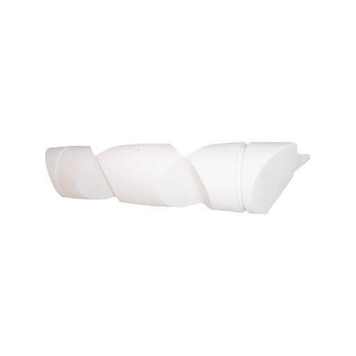 Winkelstegfender, Länge 100cm, Durchmesser 19cm - weiß