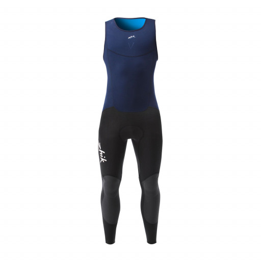 Zhik Microfleece V Skiff Suit Long John Neoprenanzug Damen marineblau-dunkelgrau