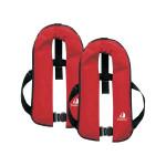 2er-Set 12skipper Automatik-Rettungsweste 165N ISO mit Harness, rot