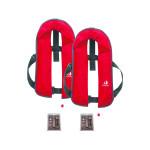 2er-Set 12skipper Automatik-Rettungsweste 165N ISO, rot inkl. 2 Wartungskits