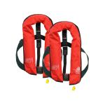 2er-Set 12skipper Rettungsweste 165N ISO mit manueller Auslösung, rot