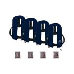 4er-Set 12skipper Automatik-Rettungsweste 165N ISO, marineblau inkl. 4 Wartungskits