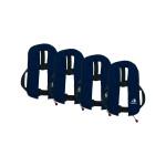 4er-Set 12skipper Automatik-Rettungsweste 165N ISO, marineblau