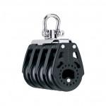 Harken 40mm Carbo Block - vierscheibig mit Wirbelschäkel