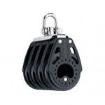 Harken 75mm Carbo Block - vierscheibig mit Wirbelschäkel