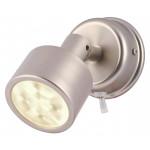RESTBESTAND: Hella Marine Serie 0770/0771 Ponui Leselampe LED - Gehäuse Nickel matt gebürstet - Lichtfarbe warmweiß - Spannung 24 Volt