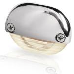 Hella Marine Serie 8560 Easy Fit Stufenleuchte LED - Gehäuse Edelstahl poliert, Lichtfarbe warmweiß