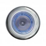 Hella Marine Serie 3980 SpotLED Deckenstrahler LED - Gehäuse Edelstahl satiniert - Leuchtring in blau