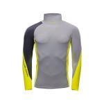 Marinepool NTS Pro Rashguard Stretch-Top Longsleeve Herren grau-gelb
