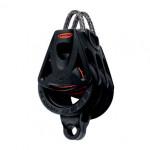 Ronstan Orbit Block Serie 40 BB - dreischeibig mit Looptop und Hundsfott
