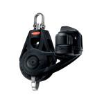 Ronstan Orbit Block Serie 40 BB - einscheibig mit Wirbelschäkel, Hundsfott und Klemme