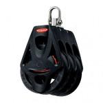 Ronstan Orbit Block Serie 55 BB - dreischeibig mit Wirbelschäkel und Hundsfott