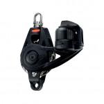 Ronstan Orbit Block Serie 55 RT - einscheibig mit Wirbelschäkel, Hundsfott und Klemme, auto & manuell