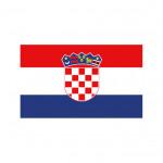 Nationalflagge Kroatien - 30 x 45cm