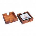SALE: Untersetzer-Halter aus Teak - Maße 12,5 x 12,5 x 3,5 cm